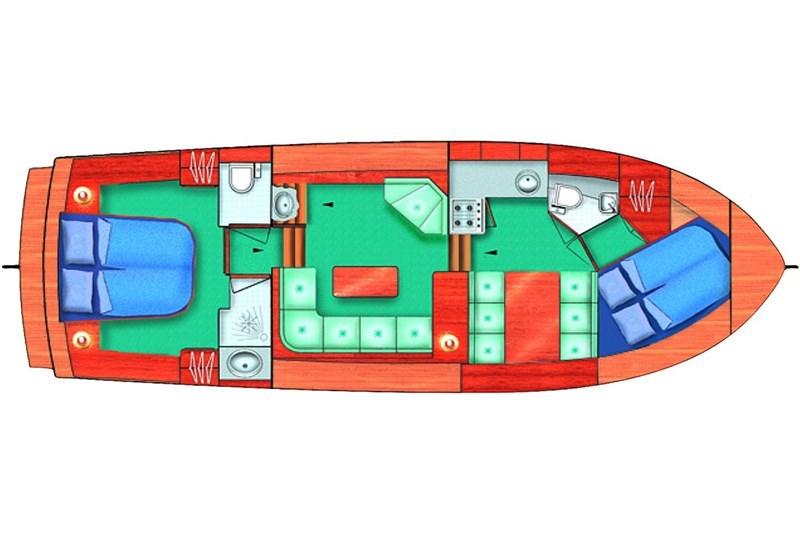 Aquanaut Drifter 1150 AK Grundriss